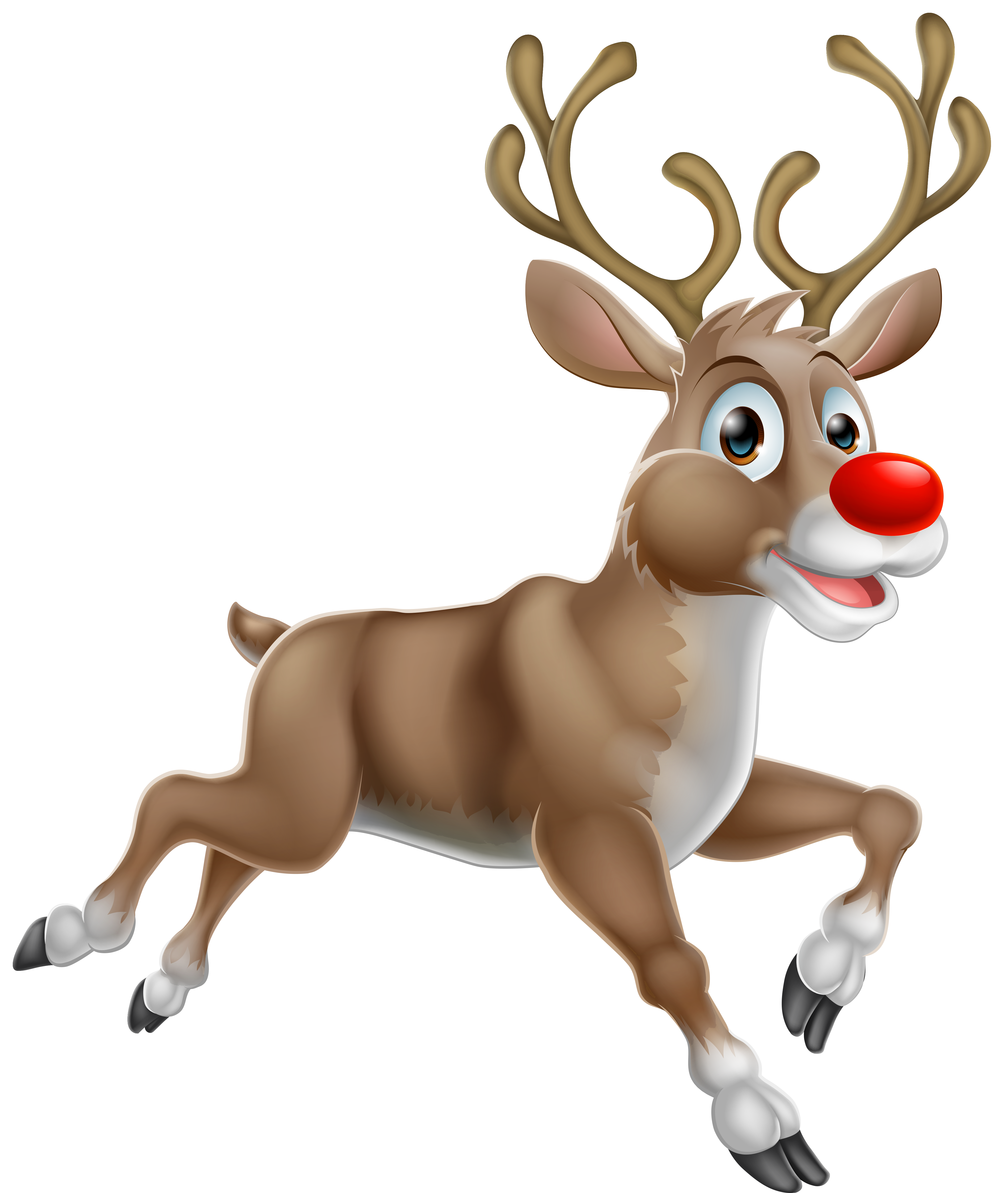 Clipart reindeer christmas vector freeuse download Transparent Christmas Rudolph PNG Clipart | Gallery Yopriceville ... vector freeuse download