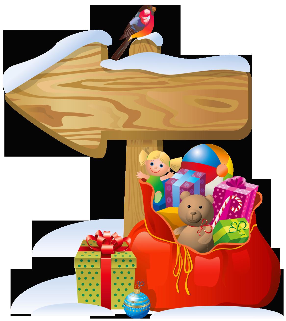 Christmas play clipart jpg royalty free Transparent Christmas Sign and Santa Bag PNG Clipart | Gallery ... jpg royalty free