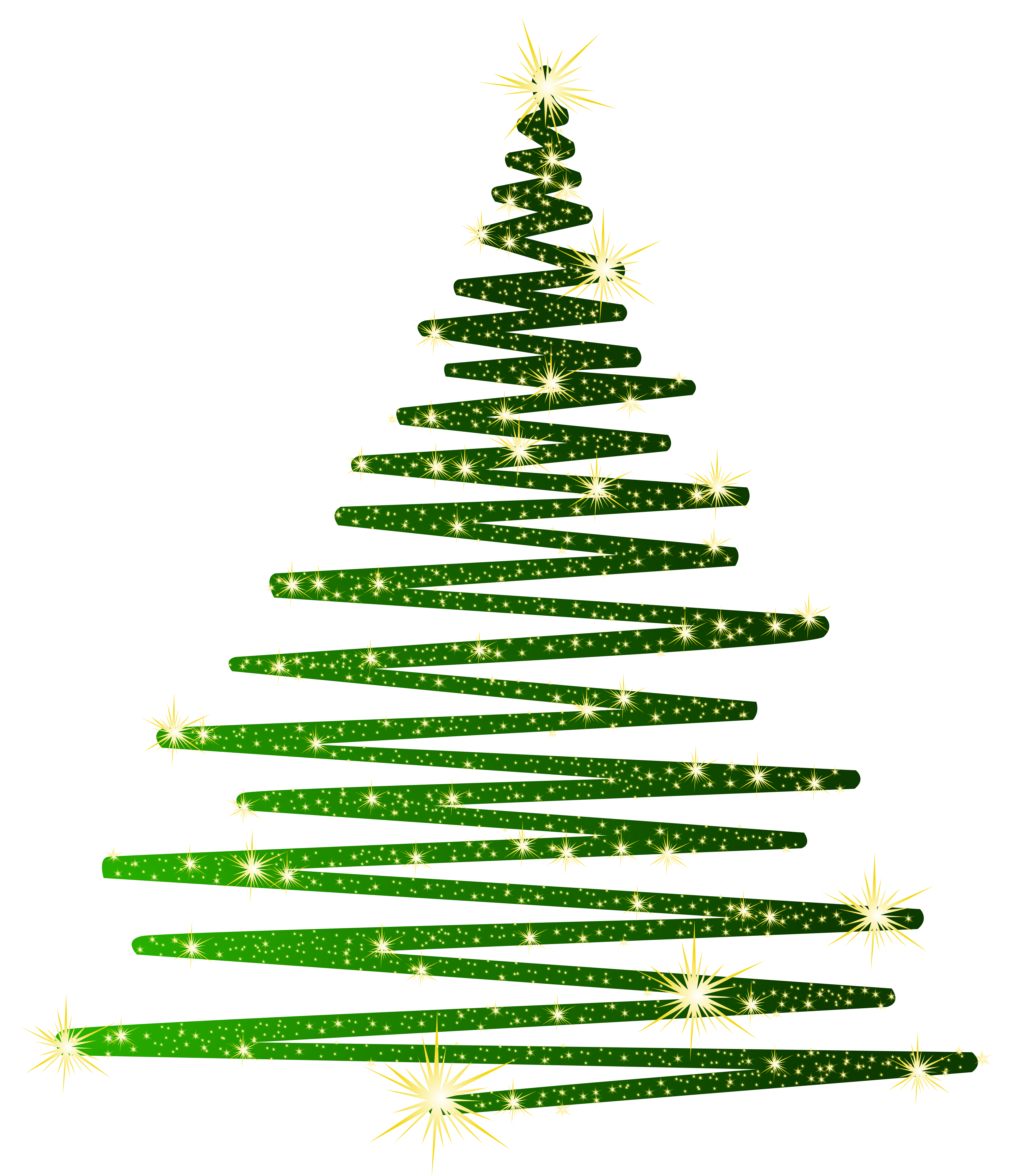 Free christmas tree clipart black and white vector royalty free Green Christmas Shining Tree PNG Clipart | Gallery Yopriceville ... vector royalty free