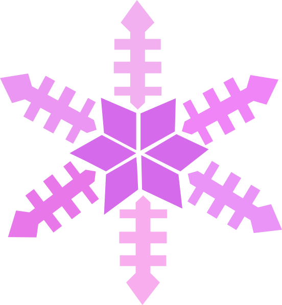 Colored snowflake border clipart transparent library Purple Snowflake Clip Art at Clker.com - vector clip art online ... transparent library