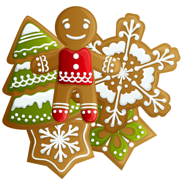 Christmas baking clipart clip free library Transparent Christmas Gingerbread and Cookies PNG Clipart ... clip free library