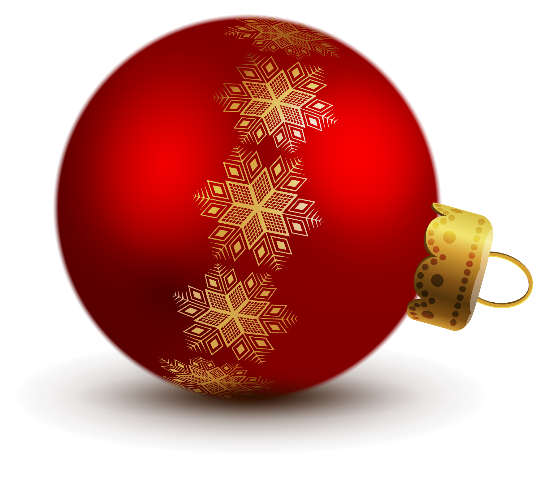 Tree ornament clipart picture free download Transparent Red Christmas Ball Ornaments Clipart | Gallery ... picture free download
