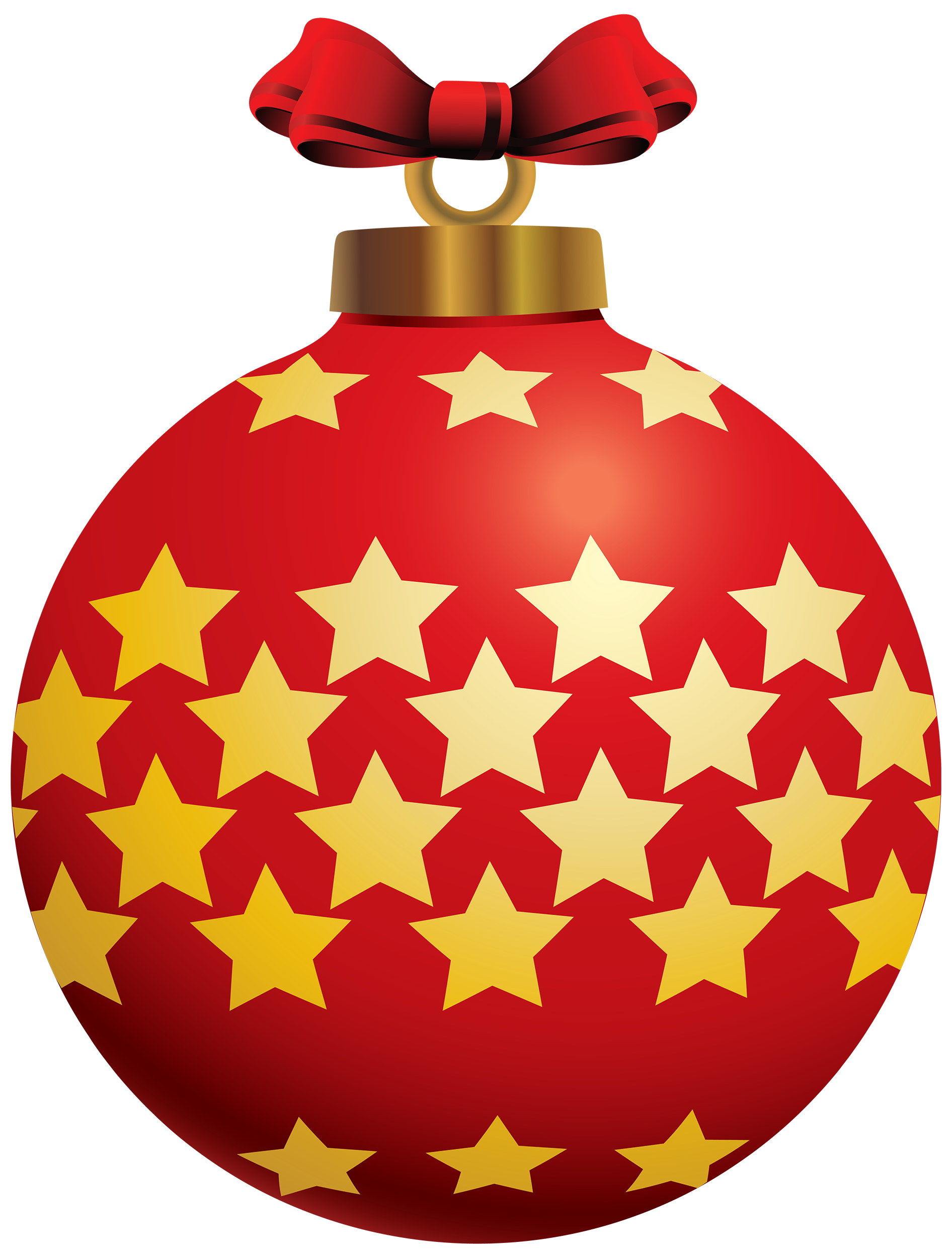 Christmas ball ornament clipart clipart freeuse stock Red Christmas Ball with Stars PNG Clipart - Best WEB Clipart clipart freeuse stock