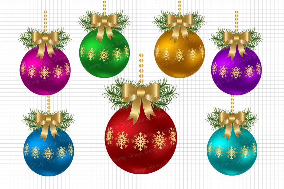 Christmas balla clipart image transparent stock Christmas Balls Clipart, Christmas Graphic and Illustrations, Scrapbooking,  Card Making, Decorations image transparent stock