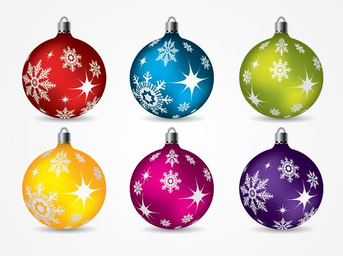 Free christmas clipart ornaments. Balls vector clip art