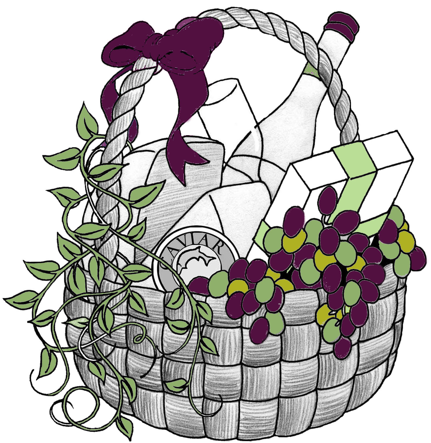 Thanksgiving raffle basket clipart png library stock 28+ Collection of Free Clipart Gift Baskets | High quality, free ... png library stock