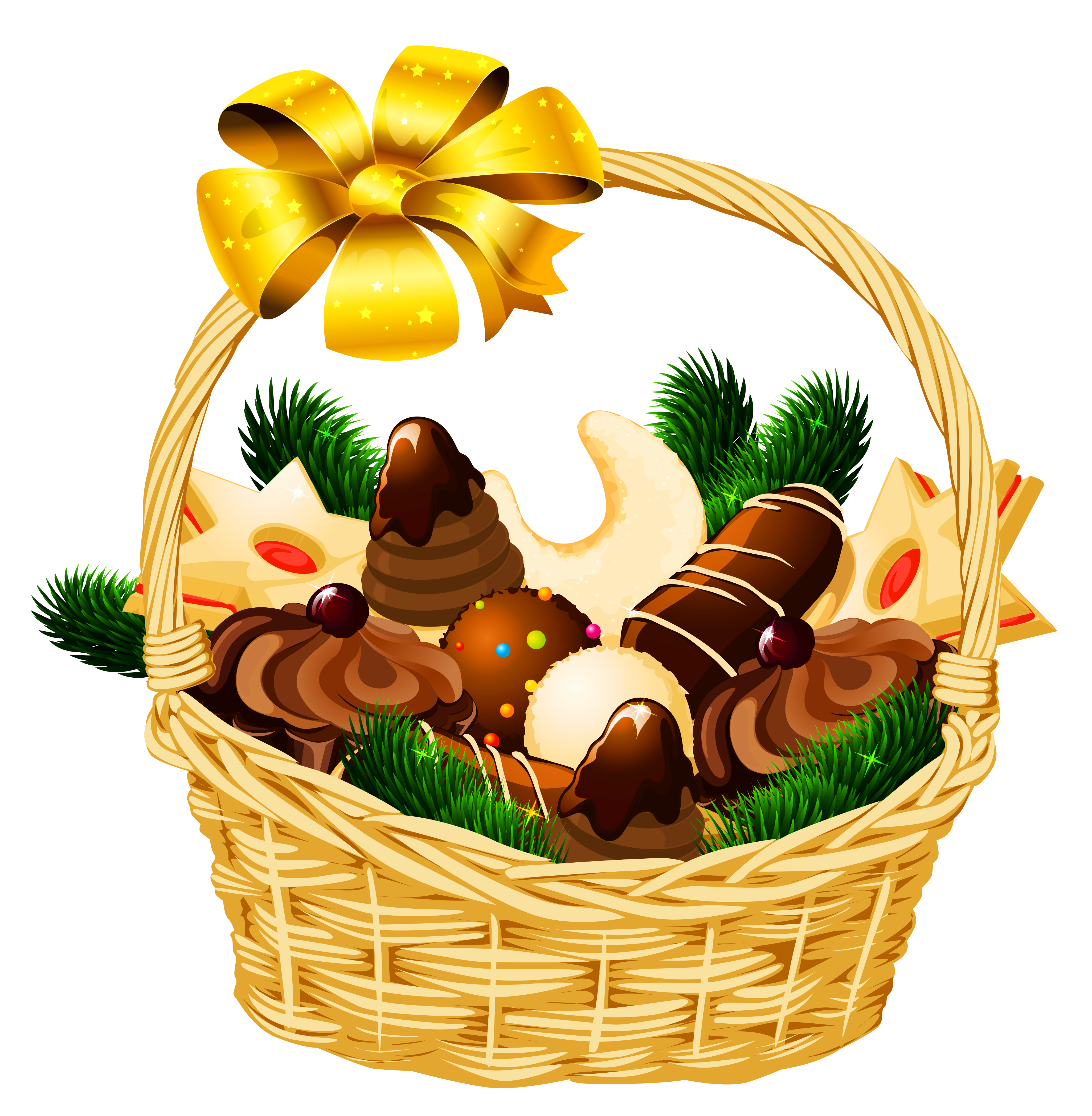 Christmas basket clipart jpg transparent Holiday Christmas Basket PNG Picture | Gallery Yopriceville - High ... jpg transparent
