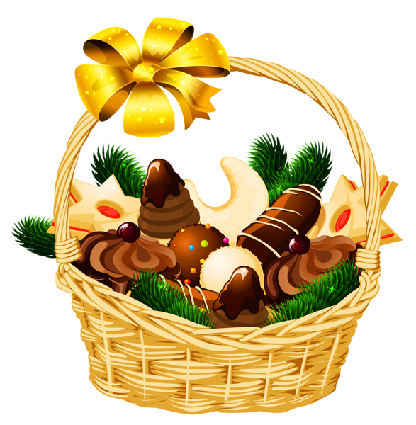 Christmas baskets clipart picture free library Holiday Christmas Basket PNG Picture | Клипарты Новогодние ... picture free library