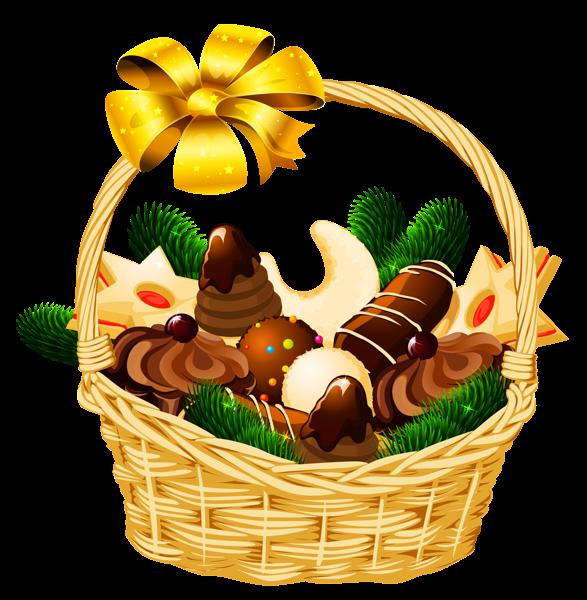 Christmas baskets clipart
