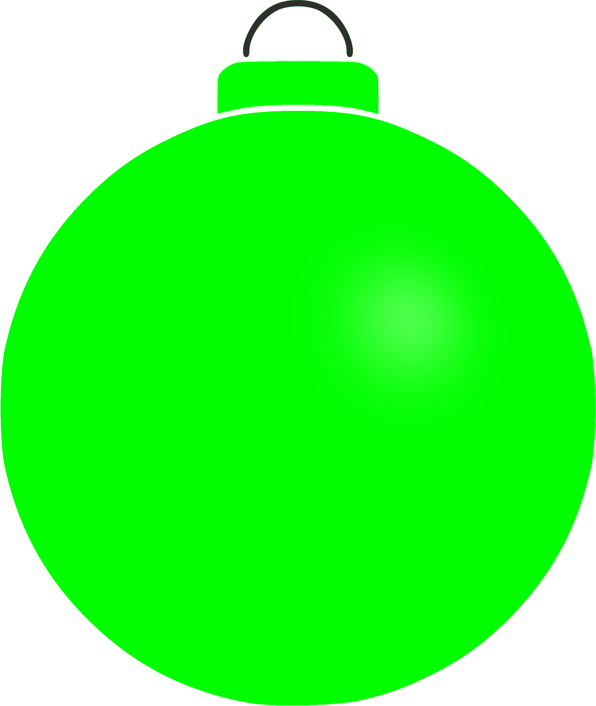 Christmas baubles clipart banner free stock Clipart - Plain bauble 3 banner free stock