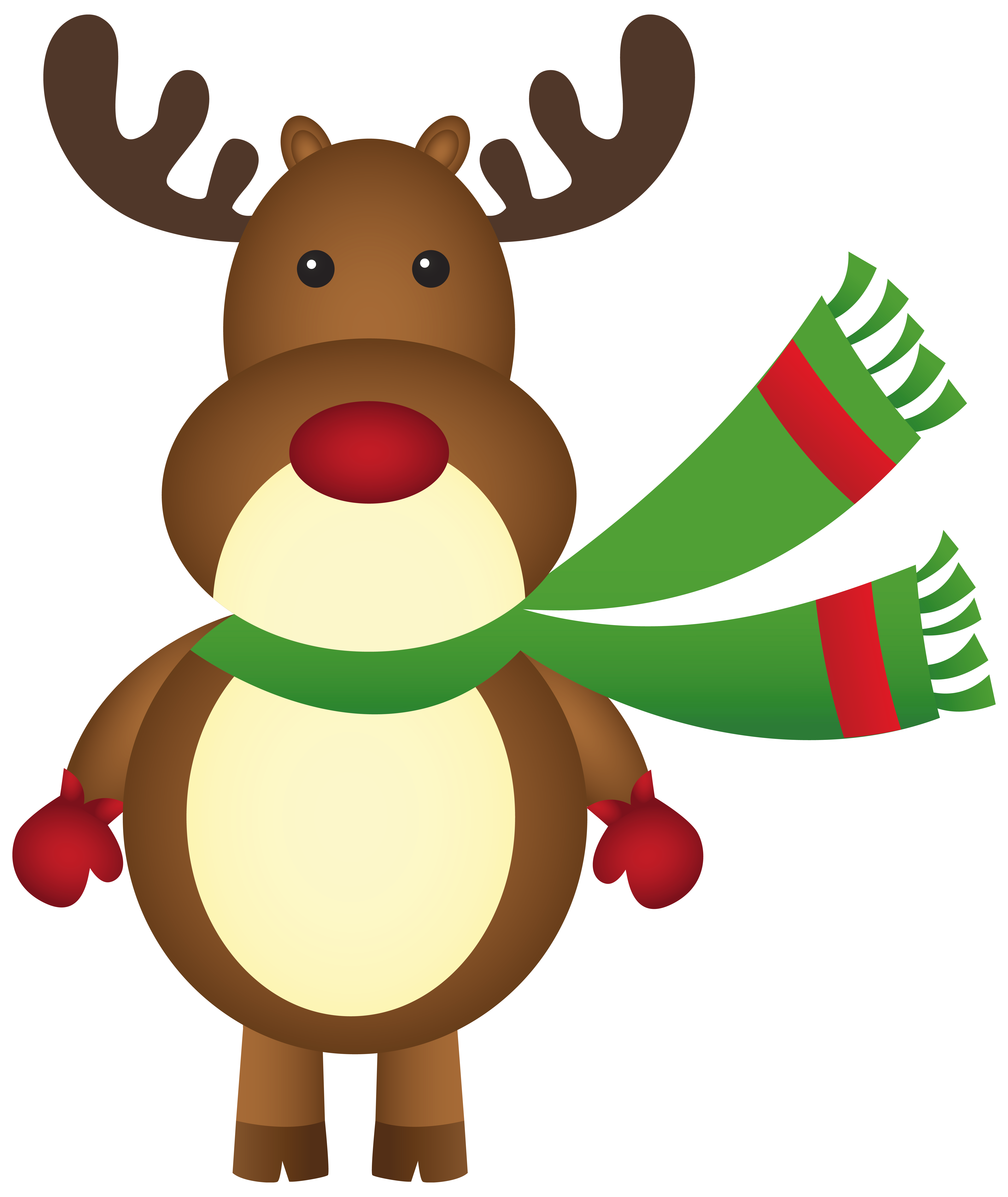 Christmas beach clipart graphic royalty free stock Christmas Rudolph with Scarf PNG Clipart Image | Gallery ... graphic royalty free stock