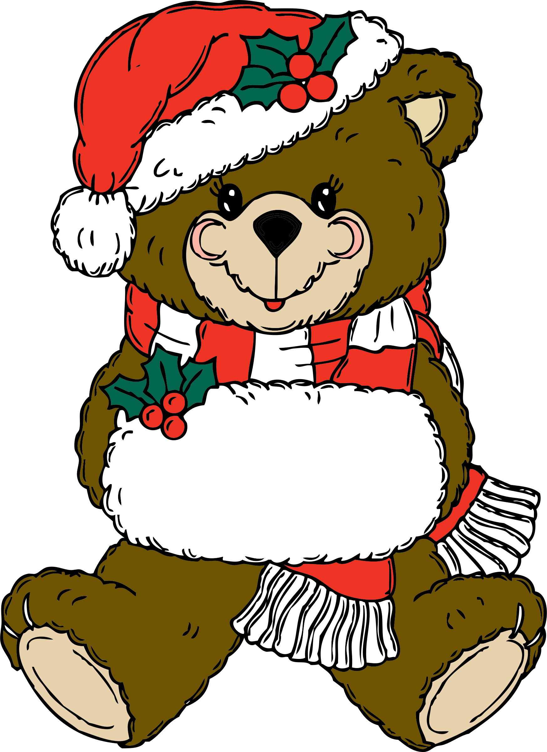 Christmas polar bear clipart picture library stock Clipart - Christmas Bear picture library stock