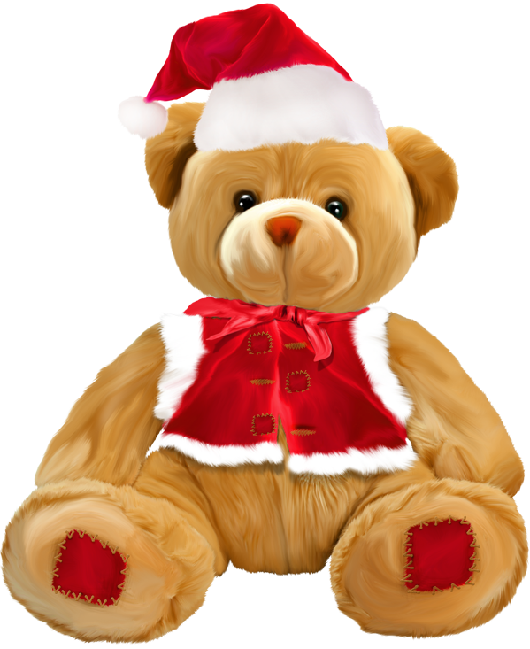 Christmas bear clipart vector free stock Christmas Teddy Bear PNG Clipart | Gallery Yopriceville - High ... vector free stock