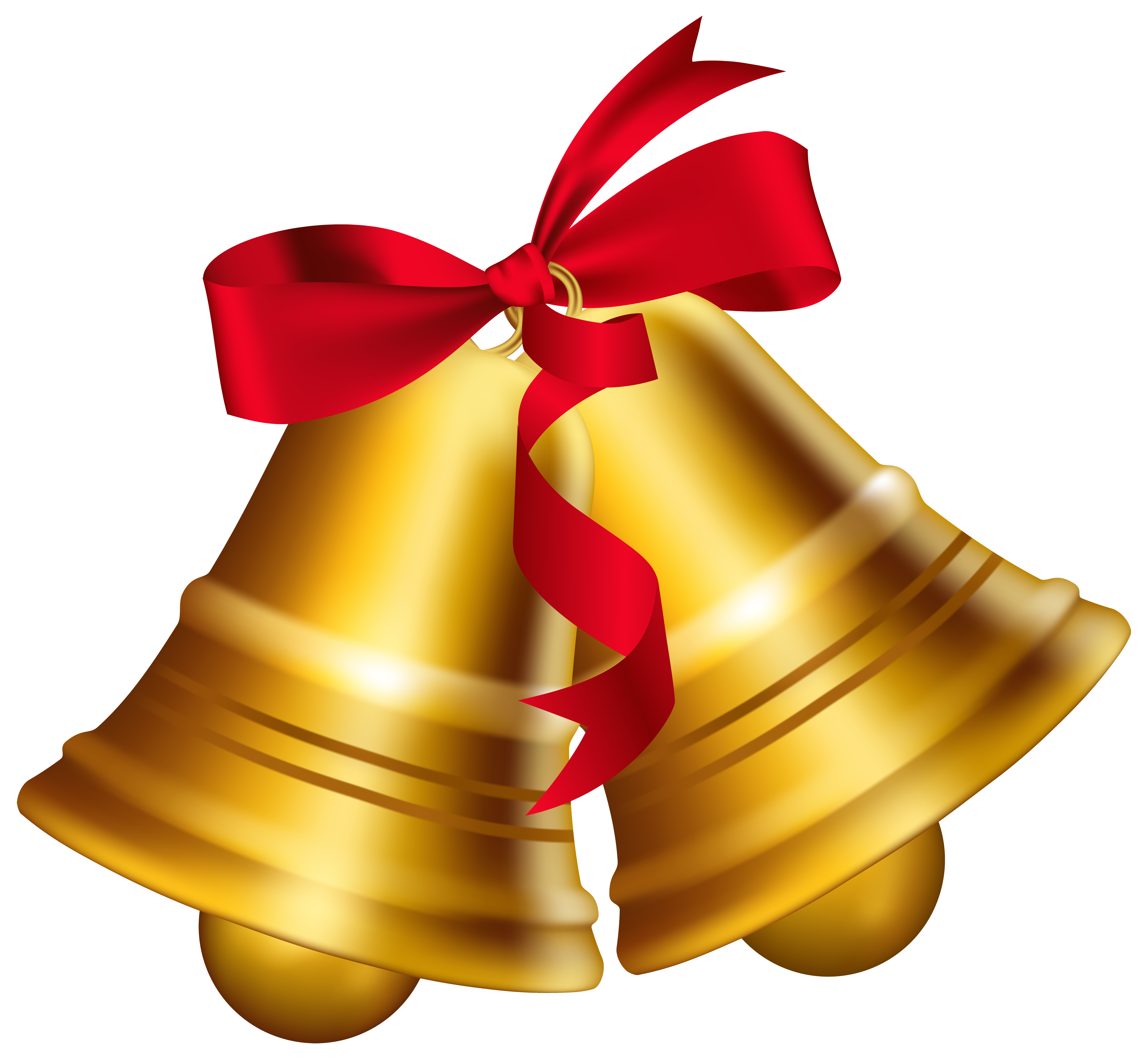 Christmas bell clipart banner transparent download Christmas Bells with Bow PNG Clip Art Image | Gallery Yopriceville ... banner transparent download