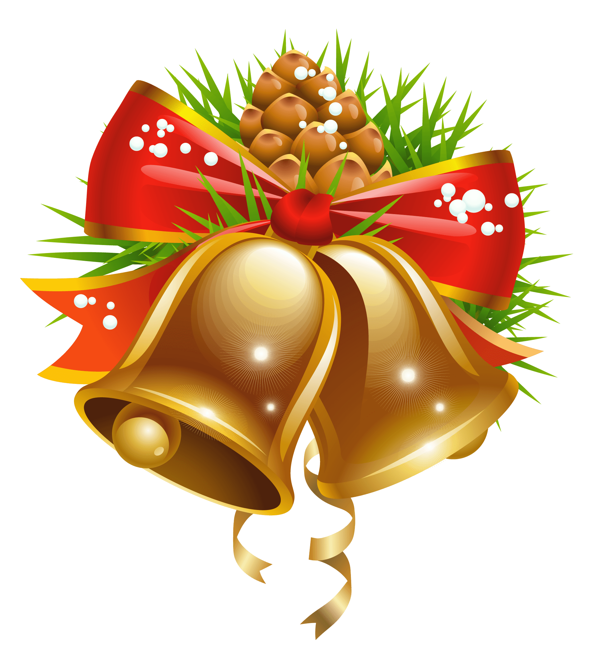 Christmas bell clipart clip freeuse library Bell Christmas Decoration transparent PNG - StickPNG clip freeuse library