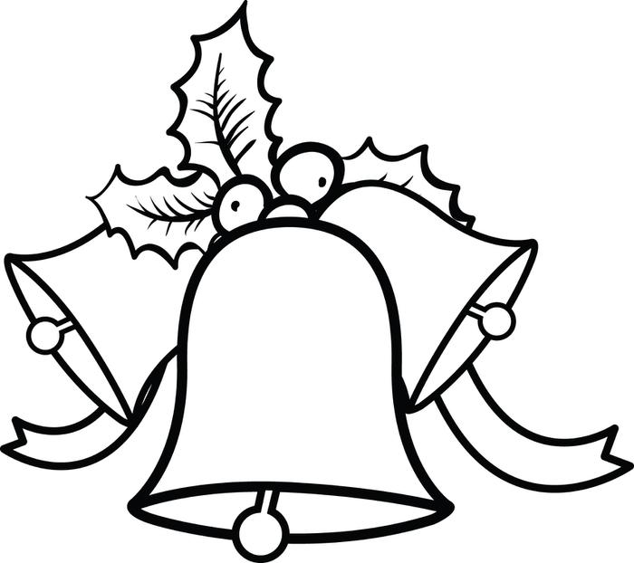 Christmas bell wreath black and white clipart picture download Christmas Bells Images | Free download best Christmas Bells Images ... picture download