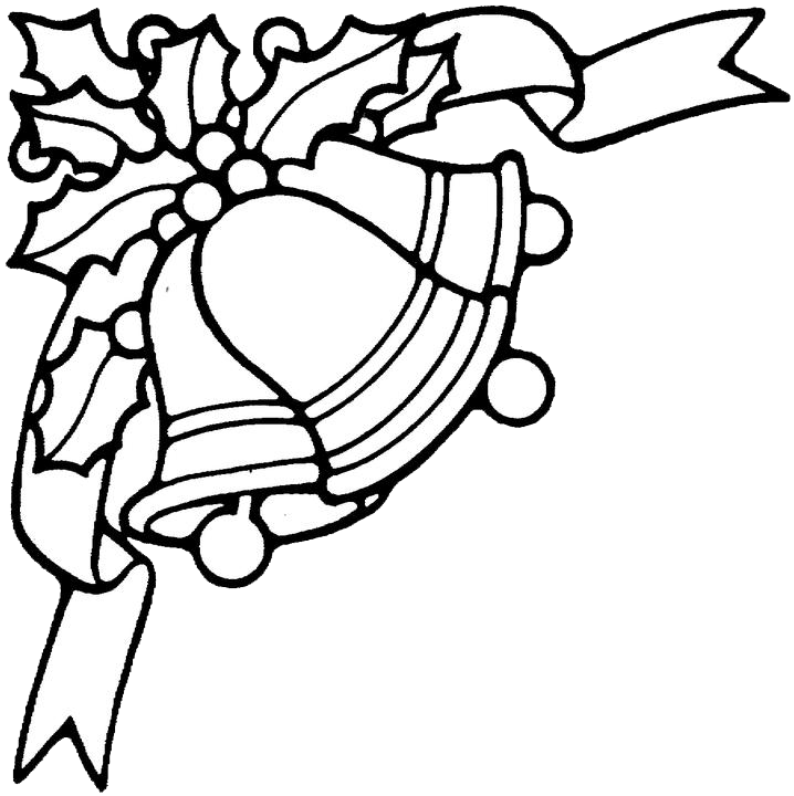 Christmas bell wreath black and white clipart banner black and white Free Christmas Bell Clipart, Download Free Clip Art, Free Clip Art ... banner black and white