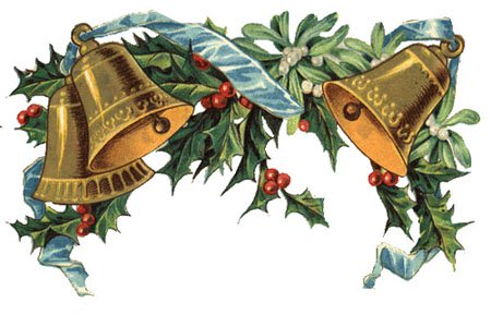 Christmas bells and holly clipart svg library download Free Clipart: Vintage Christmas Bells, Holly, Mistletoe svg library download