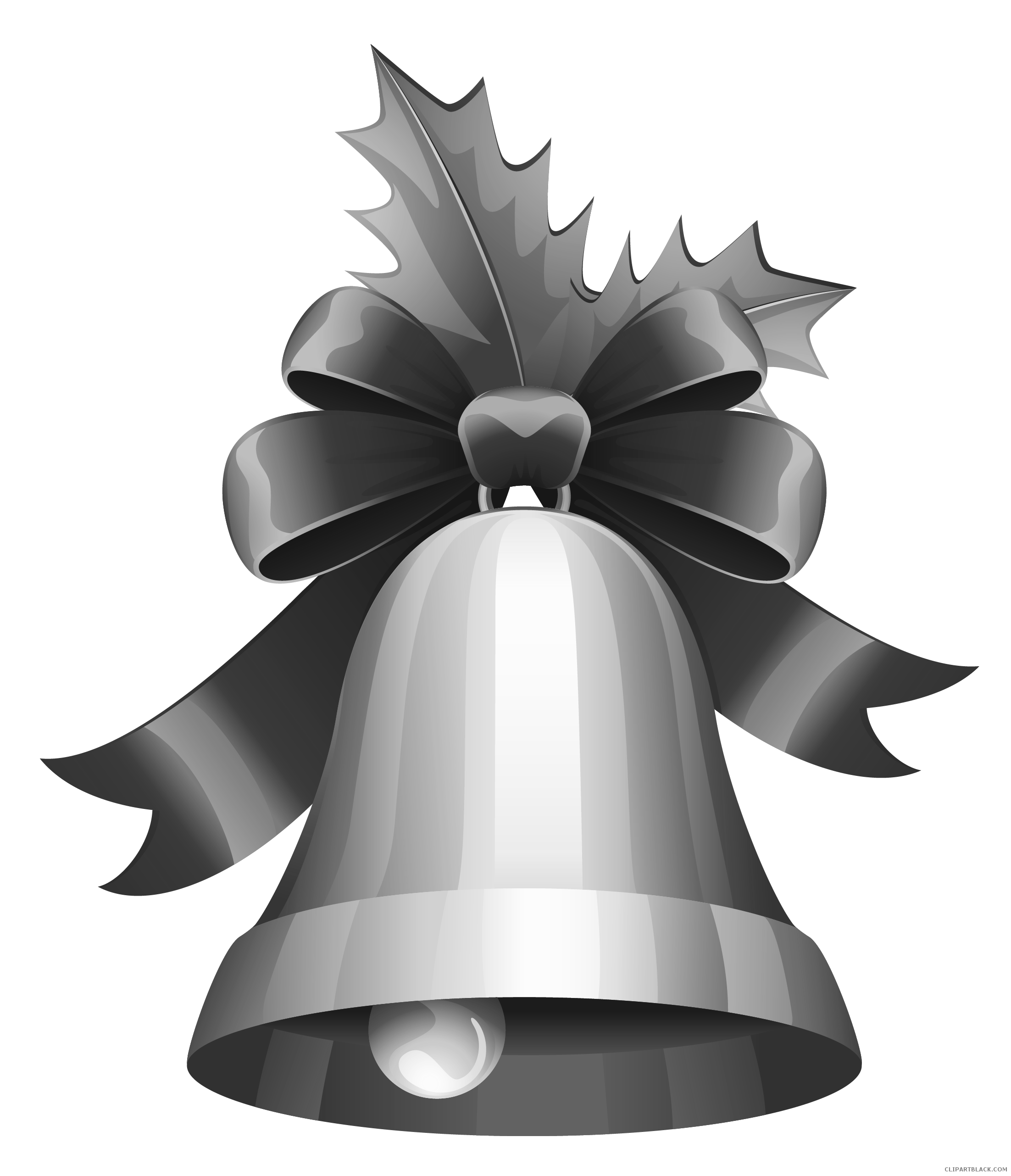 Christmas bells black and white clipart image black and white library Christmas Bell Clipart - Page 3 of 4 - ClipartBlack.com image black and white library