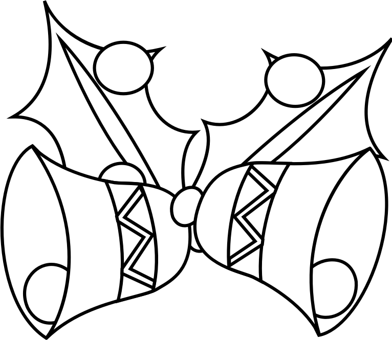 Christmas bells black and white clipart image transparent download Clipart - Jingle Bells Coloring Book image transparent download