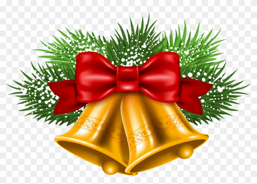 Christmas bells with pine and bow clipart black & white vector royalty free stock Christmas Bell Hd Png Picture, Transparent Png - 4833x3241(#127197 ... vector royalty free stock
