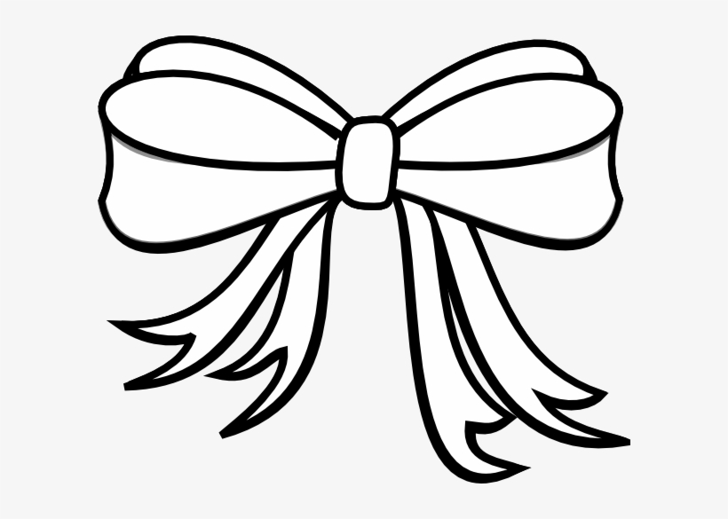 Ribbon bow clipart black and white clipart black and white stock 28 Collection Of Christmas Bow Clipart Black And White - Clip Art ... clipart black and white stock