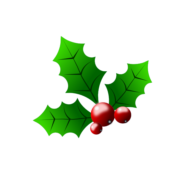 Christmas berries clipart clip art freeuse stock Holly With Berries Clip Art at Clker.com - vector clip art online ... clip art freeuse stock