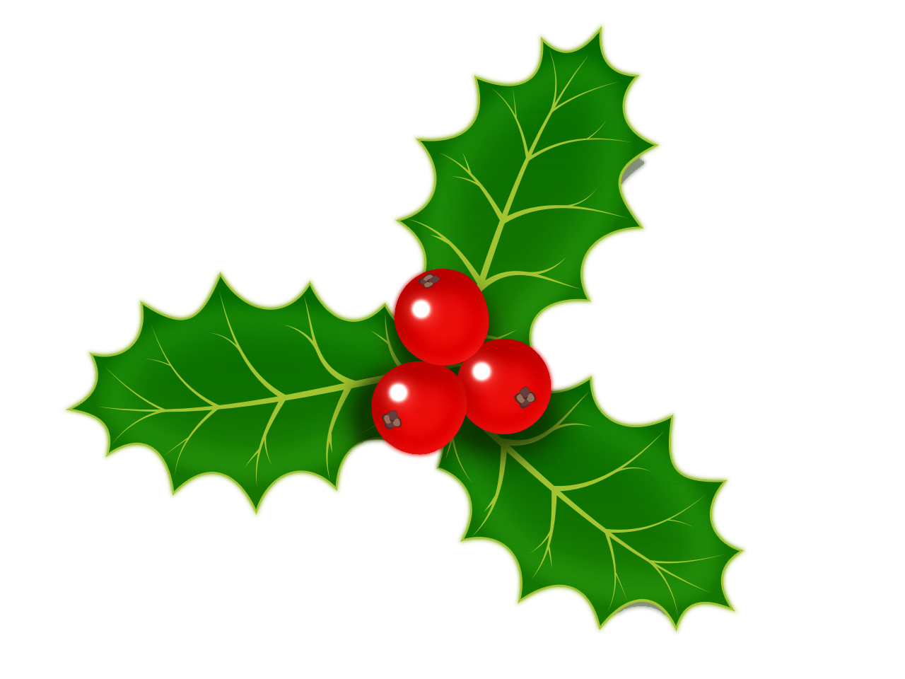 Christmas berries clipart picture free Christmas Holly png images free download picture free