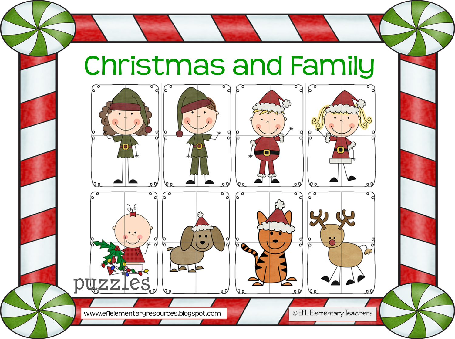 Christmas bingo clipart image free download EFL Elementary Teachers: Christmas and Family Theme image free download