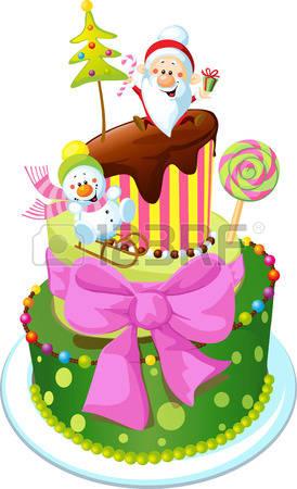 Christmas birthday cake clip art svg black and white stock 9,193 Christmas Cake Stock Vector Illustration And Royalty Free ... svg black and white stock