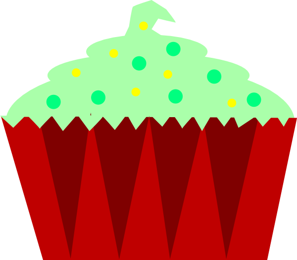 Christmas cupcake clipart clipart free stock Christmas Cupcake Clip Art at Clker.com - vector clip art online ... clipart free stock