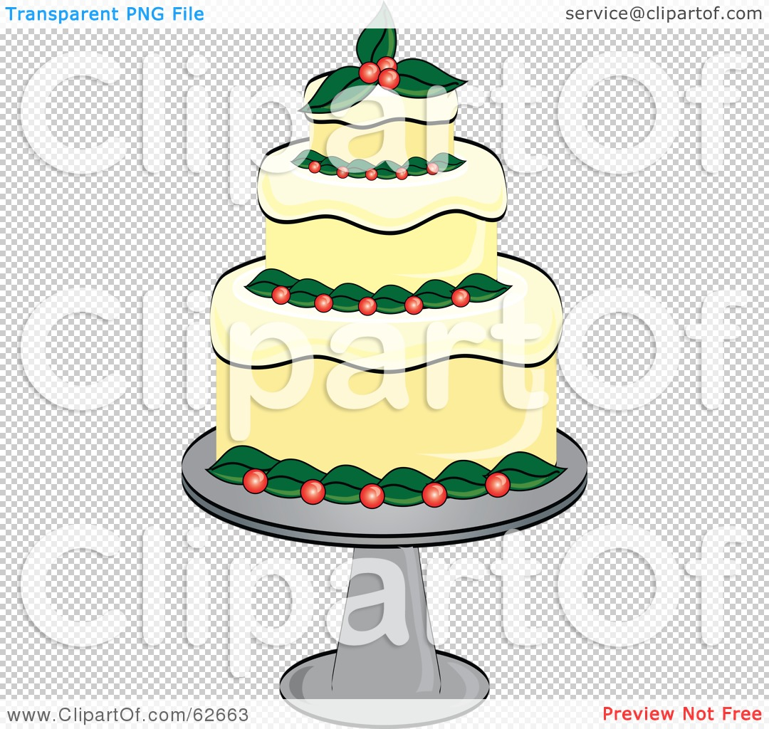 Christmas birthday cake clip art. Royalty free rf clipart