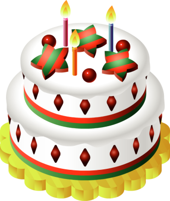 Christmas birthday cake clip art svg freeuse Christmas Birthday Cake Clipart - Clipart Kid svg freeuse