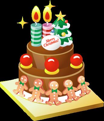 Christmas birthday cake clip art. Clipart kid with three