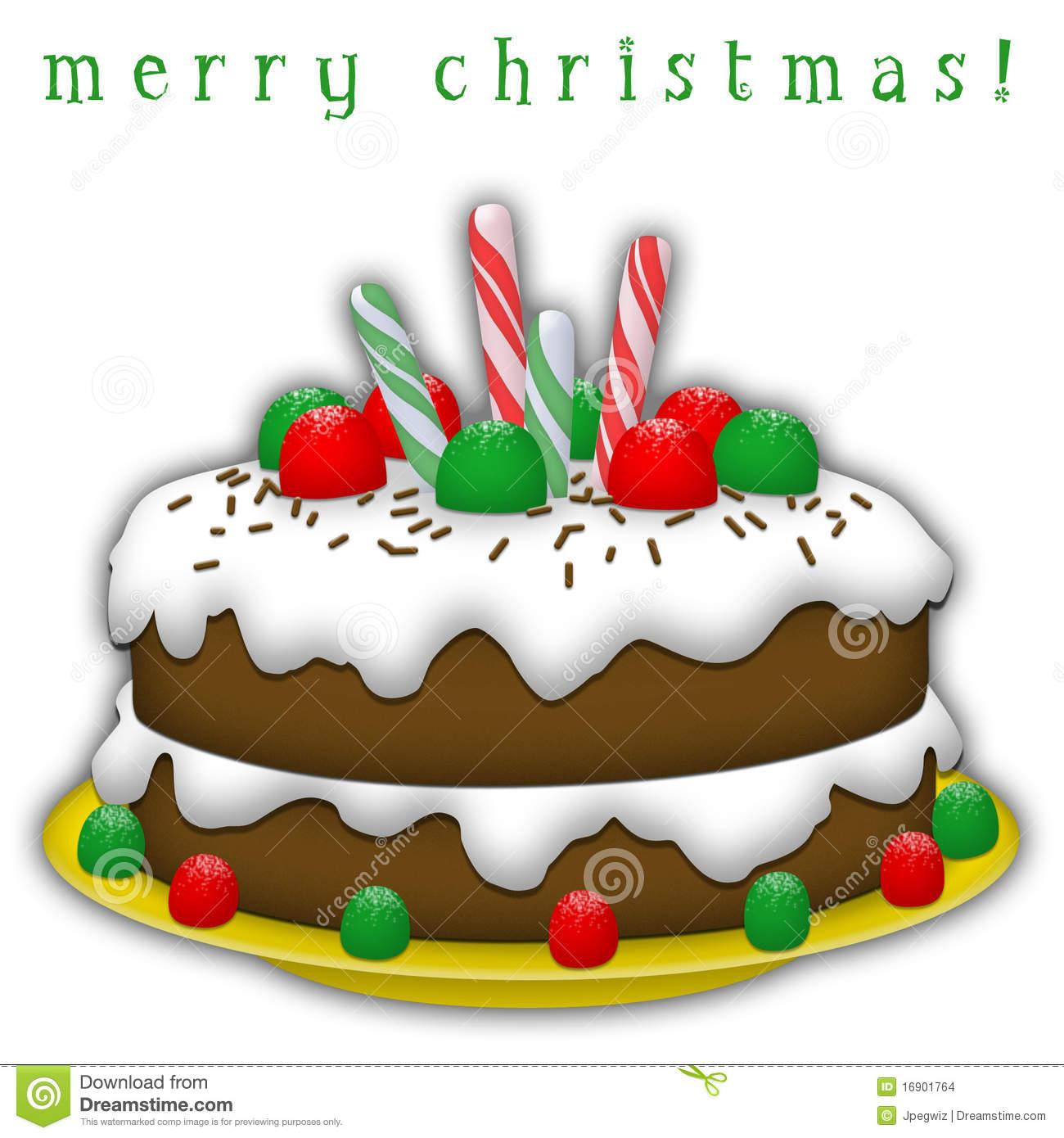 Christmas birthday cake clip art jpg free library Free christmas cake clipart - ClipartFest jpg free library