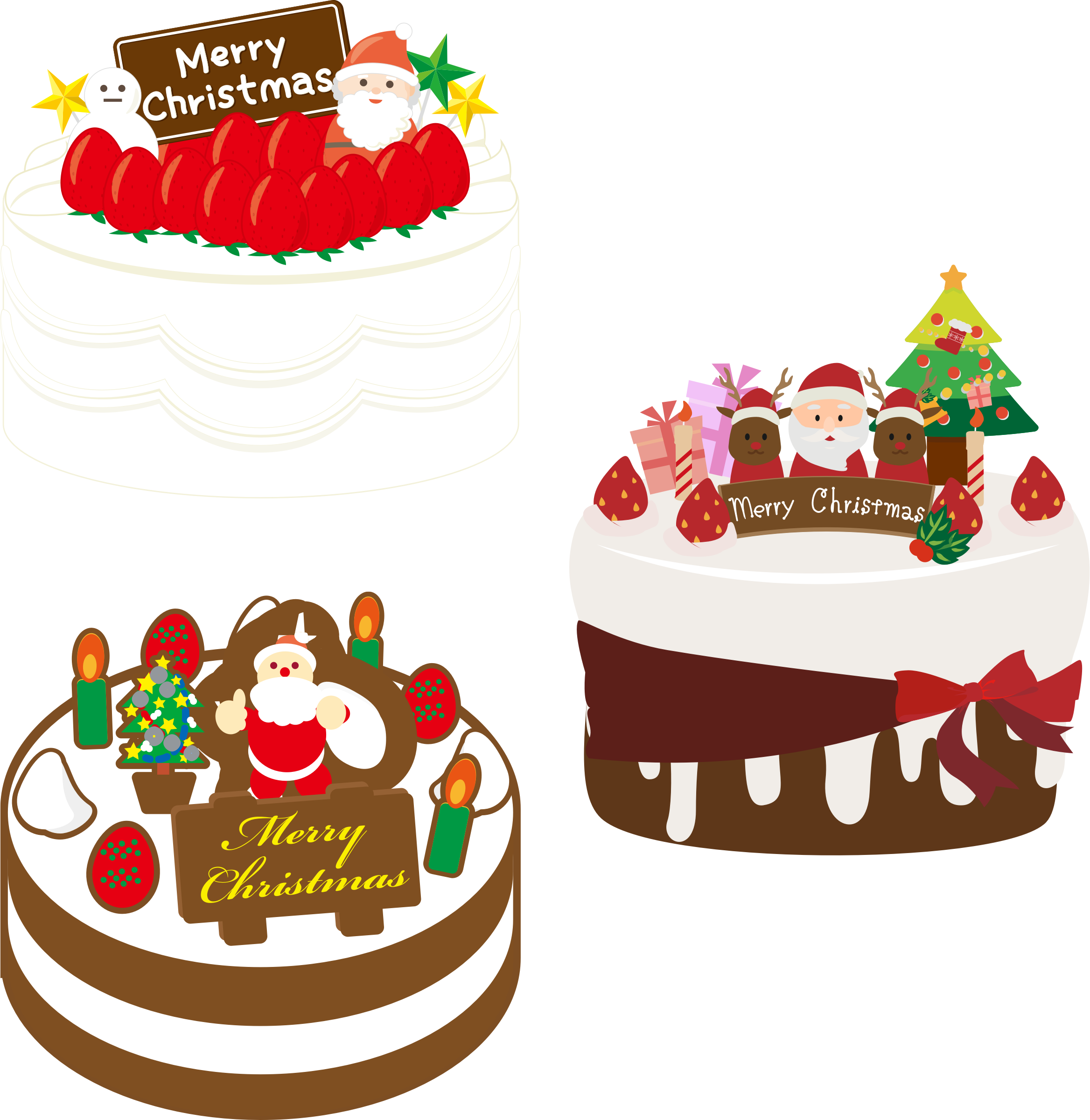Christmas dessert clipart png stock Clipart - Japanese Christmas Cake (#2) png stock