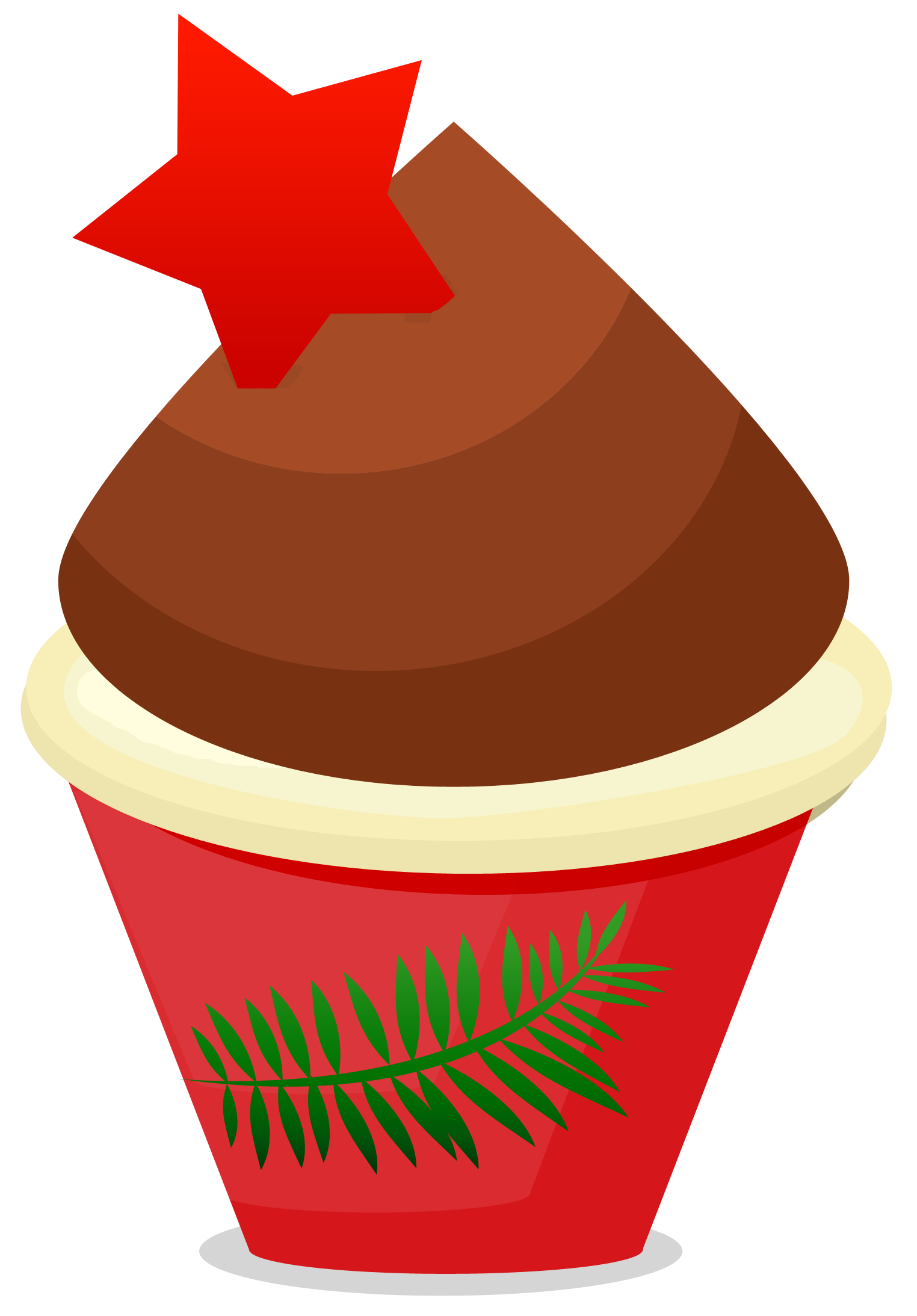 Turkey cupcake clipart graphic freeuse download Christmas Cupcake Clipart - Clipart Kid graphic freeuse download