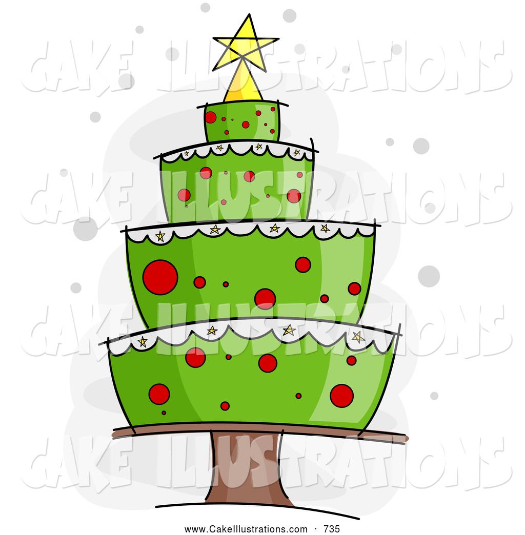 Christmas birthday cake clipart clipart transparent stock Christmas cake clipart - ClipartFox clipart transparent stock