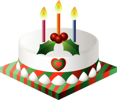 Clip art clipartfox . Christmas birthday cake transparent clipart