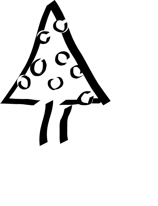 Christmas black and white clipart vector black and white download Christmas Tree Black White Line Art Xmas Flower Flora xochi.info ... vector black and white download