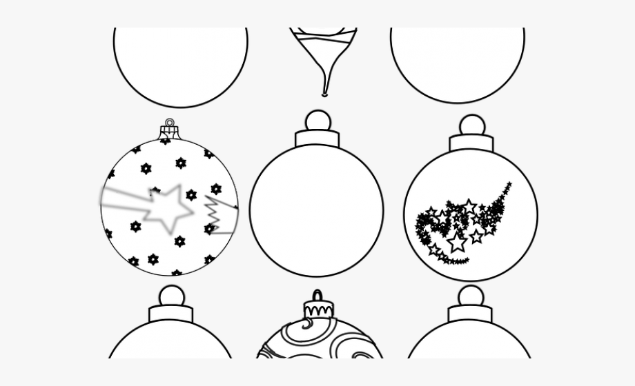 Ornament clipart black and white vector transparent download Christmas Ornaments Clipart Illustrator - Christmas Tree Ornaments ... vector transparent download