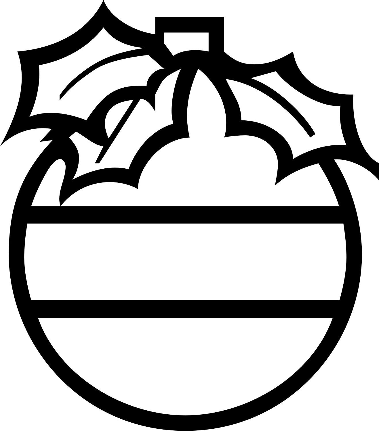Christmas black and white ornaments clipart png royalty free Christmas ornaments clipart black and white 6 » Clipart Portal png royalty free