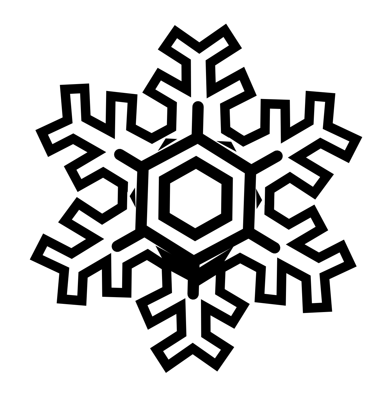 How to draw snowflake clipart picture Black Snowflake Clipart | Clipart Panda - Free Clipart Images picture