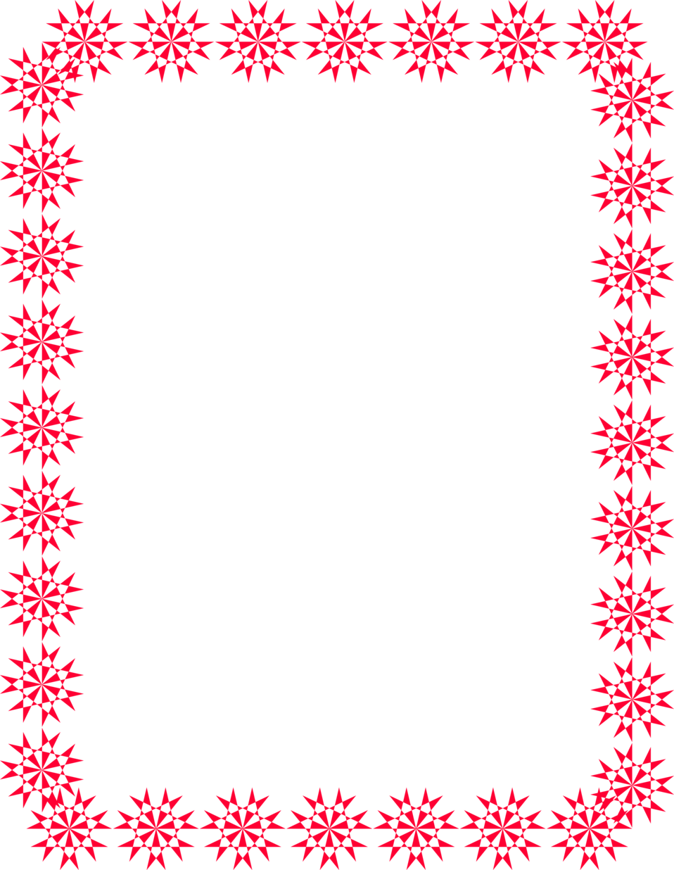 Free red snowflake border clipart image royalty free stock 28+ Collection of Christmas Clipart Borders Frames | High quality ... image royalty free stock