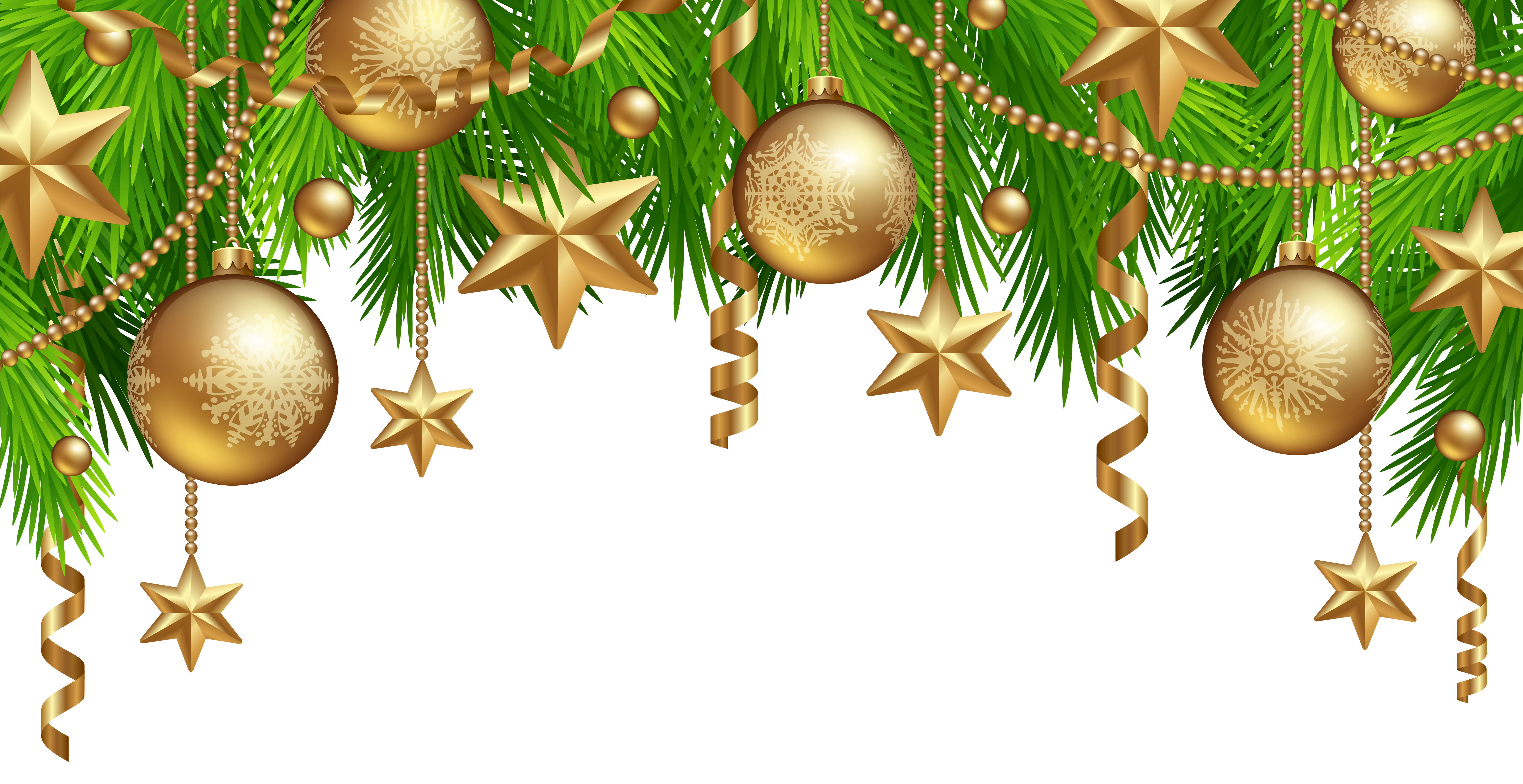 Christmas boarder clipart graphic free library Christmas Border Decor PNG Clipart Image | Gallery Yopriceville ... graphic free library