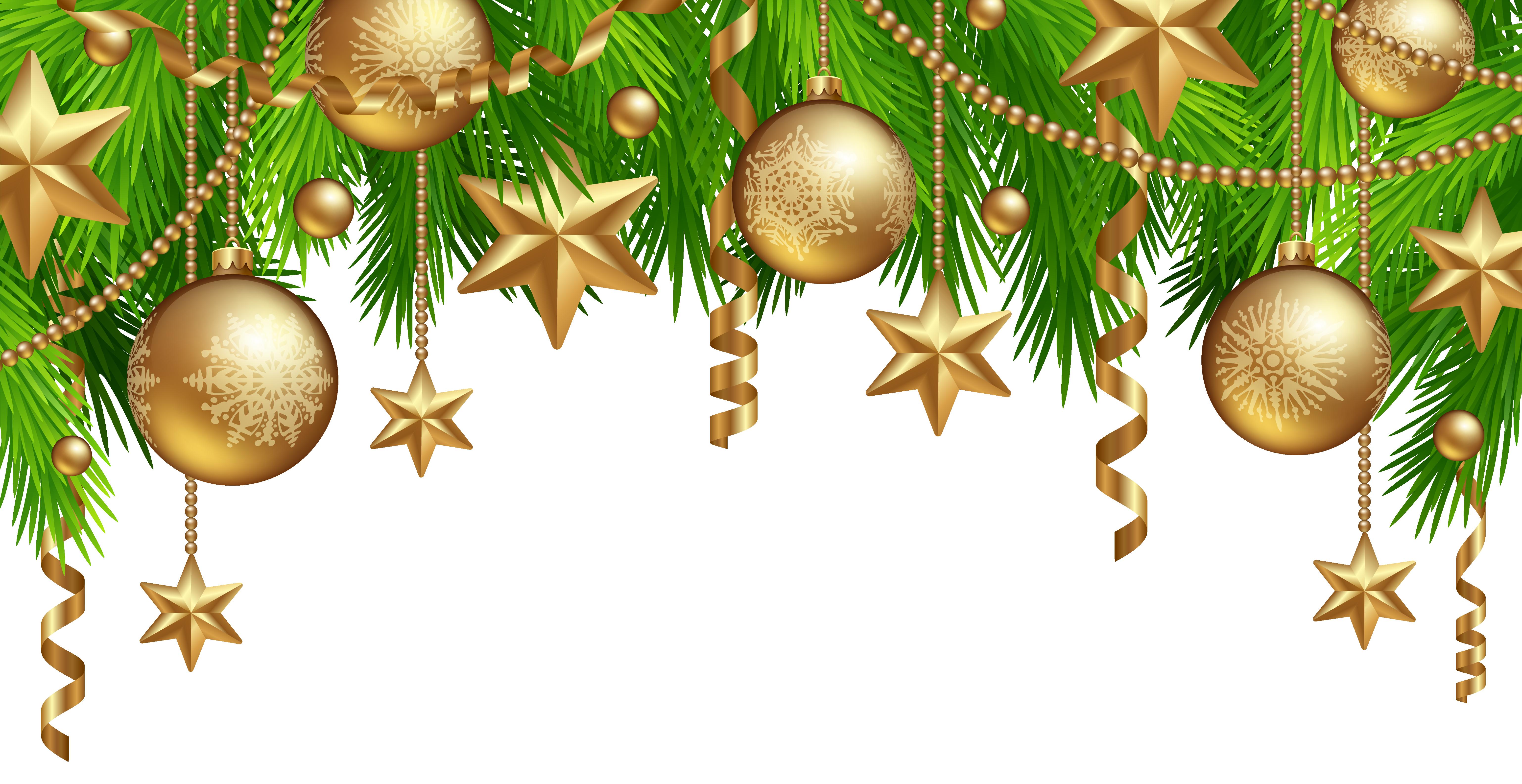 Clipart christmas border vector Christmas Border Decor PNG Clipart Image | Gallery Yopriceville ... vector
