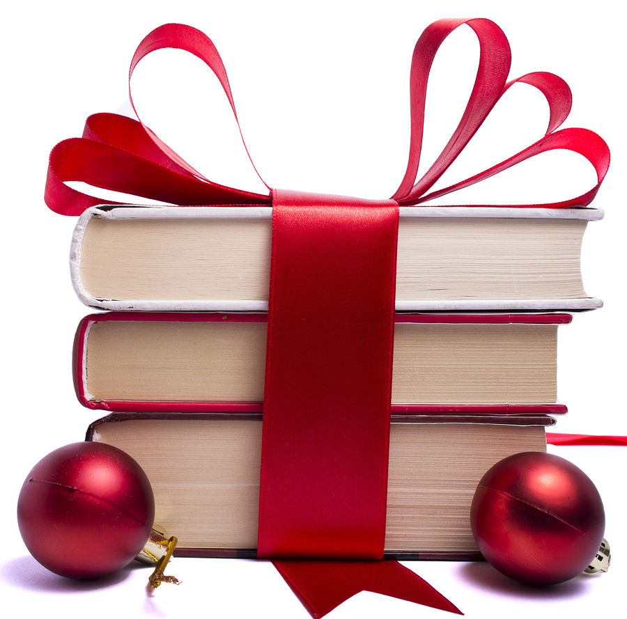 Christmas book exchange clipart
