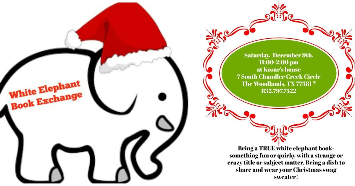 Christmas book exchange clipart svg library download ACFW, The Woodlands: Christmas 2017 White Elephant Book Exchange svg library download