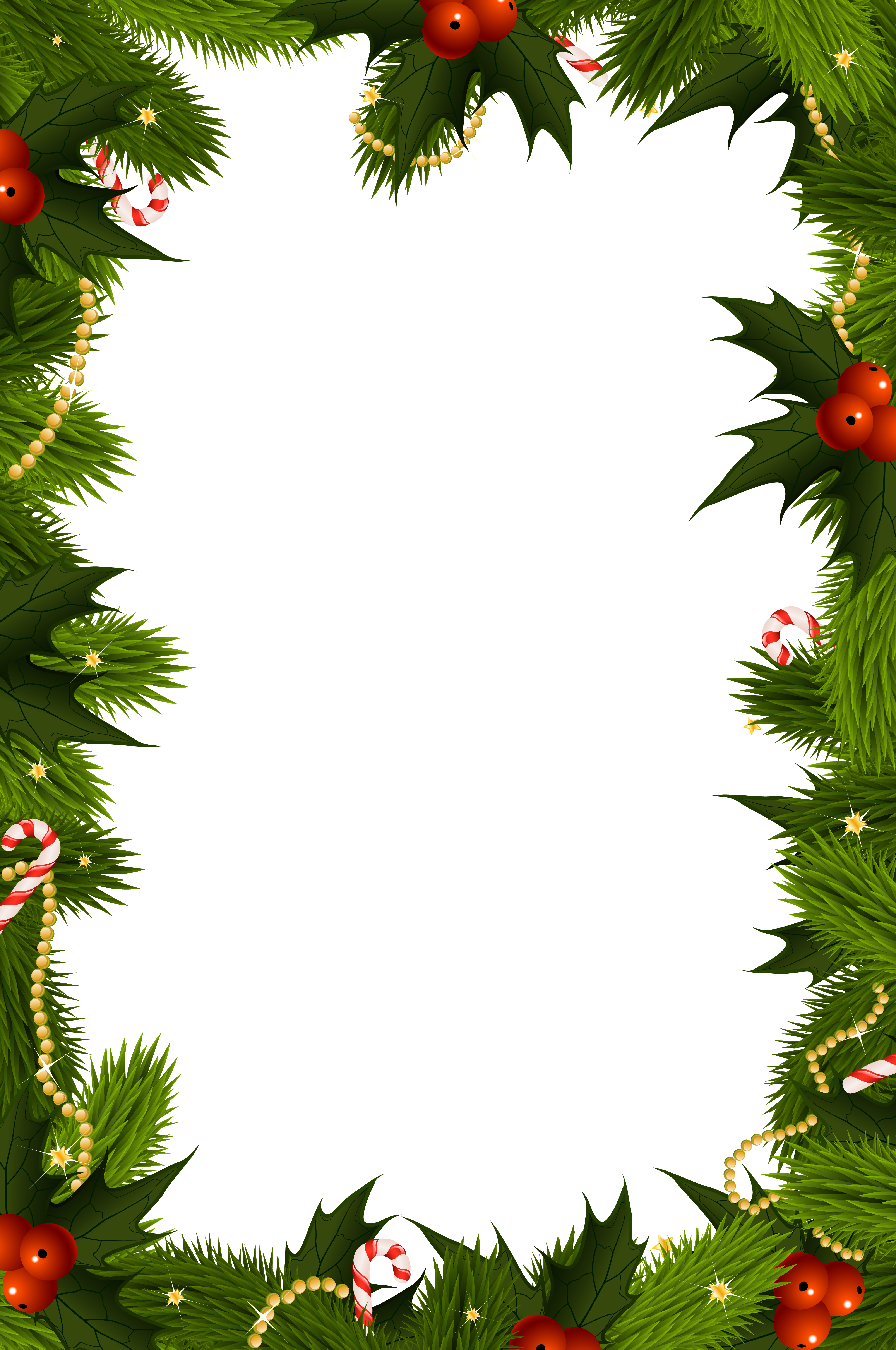 Christmas clipart free borders clip freeuse stock Transparent Christmas PNG Border Frame | Gallery Yopriceville ... clip freeuse stock