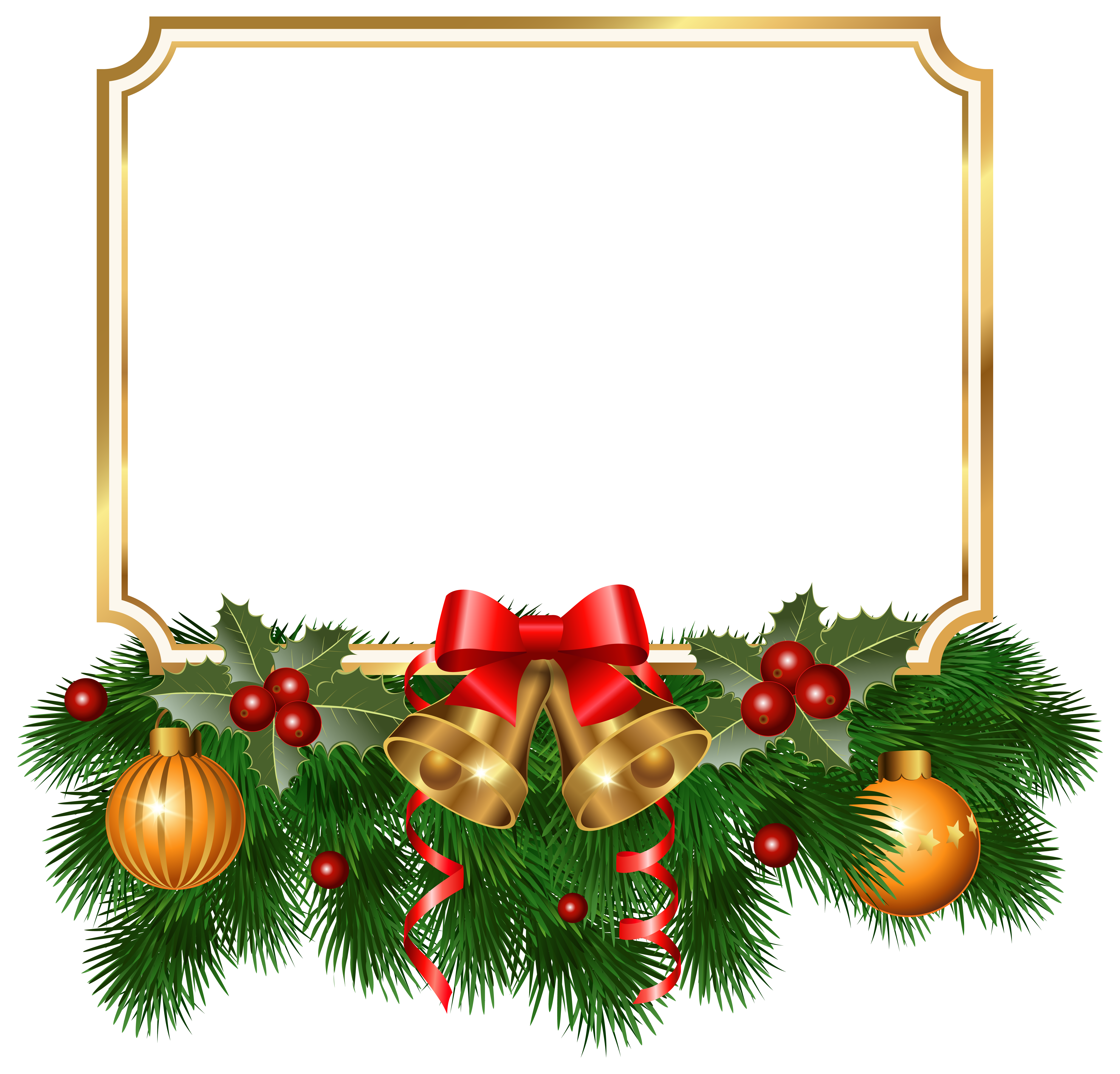 Christmas border clipart picture freeuse download Christmas Golden Border PNG Clipart Image | Gallery Yopriceville ... picture freeuse download